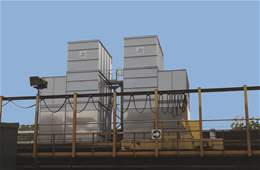 Silent cooling tower with anti corrosion material %>