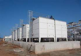 20 VAP closed cooling towers for the cooling of 10 Diesel engines